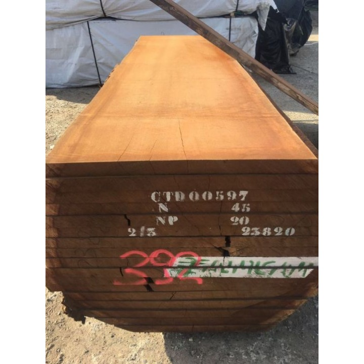 Обрезная доска Сапеле 52х1000