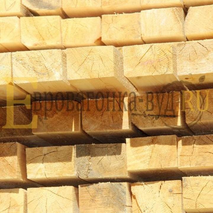 Обрезной брус лиственница 100х200