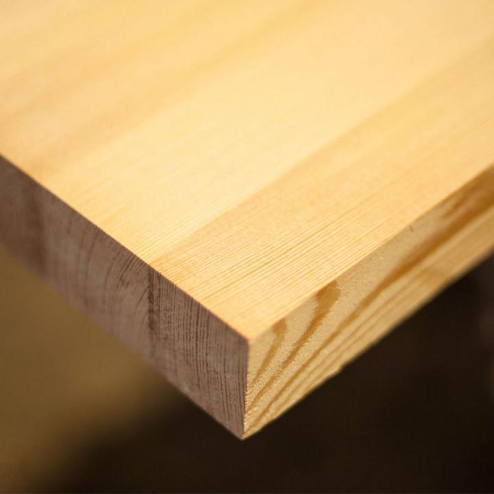 Мебельный щит лиственница 18мм сорт А